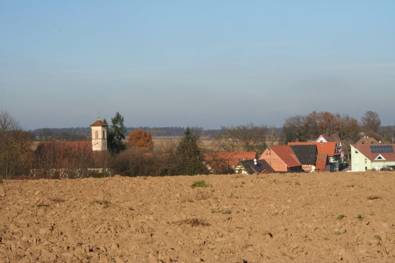 Village et clocher de Kurtzenhouse ©CCBZ